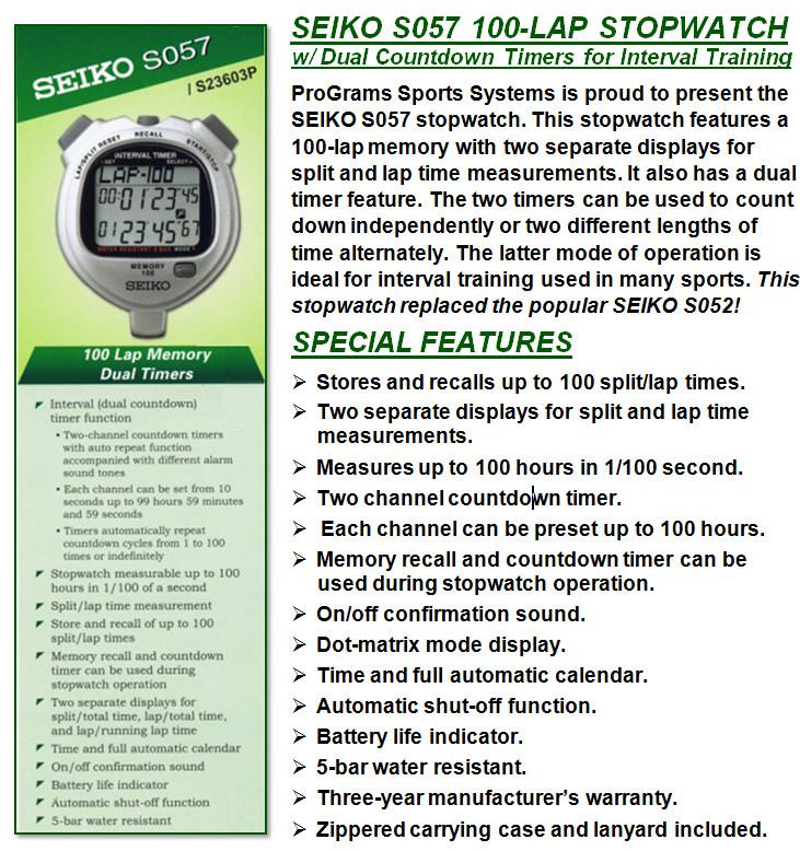 Jual Stopwatch Seiko S057 Pusat Penjualan Stopwatch Seiko S057