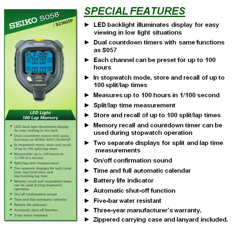 Jual Stopwatch Seiko S058 Pusat Penjualan Stopwatch Seiko S058