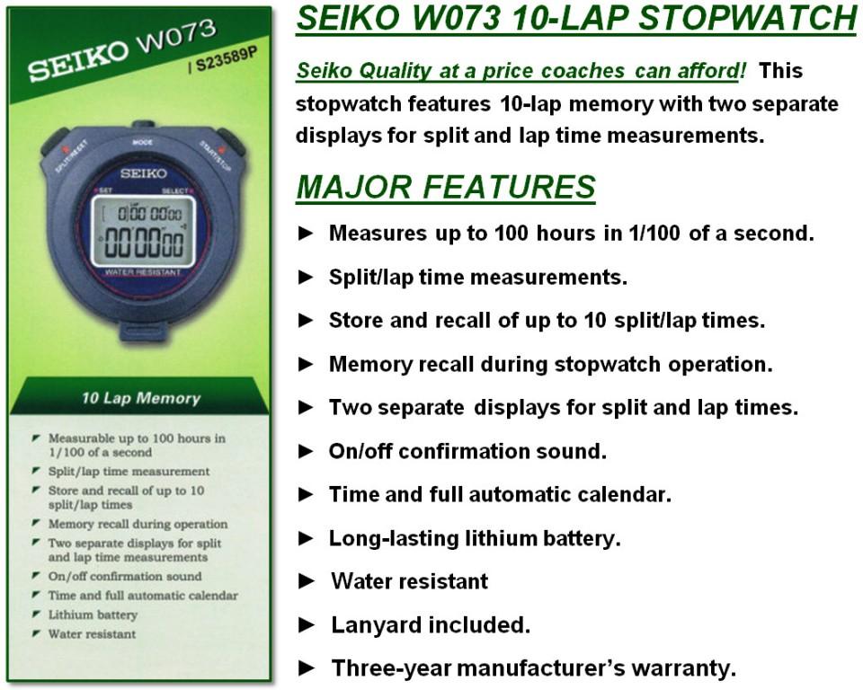 Jual Stopwatch Seiko W073 Pusat Penjualan Stopwatch Seiko W073